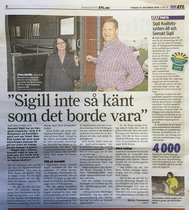 ATL Sveskt Sigill Klimat